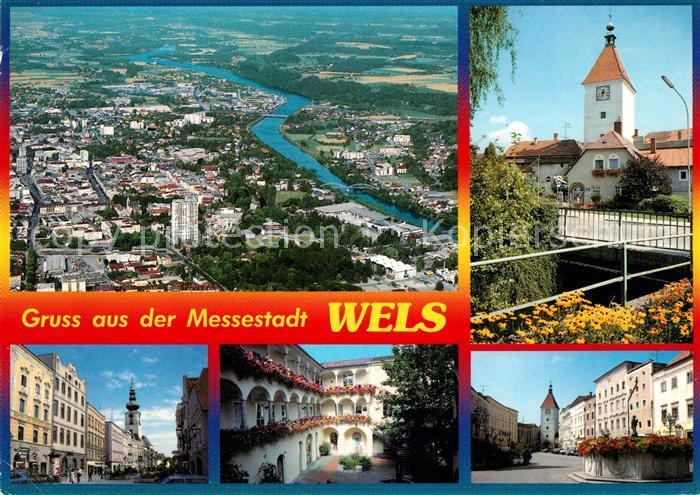 AK / Ansichtskarte Wels Fliegeraufnahme Messestadt
