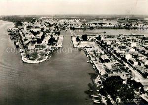 AK / Ansichtskarte Port Saint Louis du Rhone Le Rhone le Musoir et le Port vue aerienne Kat. Port Saint Louis du Rhone