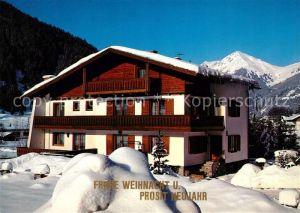 AK / Ansichtskarte Badgastein Gaestehaus Pension Haus Ulrike Weihnachtskarte Winterlandschaft Alpen Kat. Bad Gastein