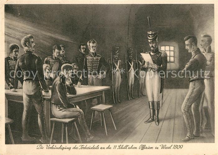 AK / Ansichtskarte Wesel Rhein Verkuendung der Todesurteile der Offiziere 1809 Kat. Wesel