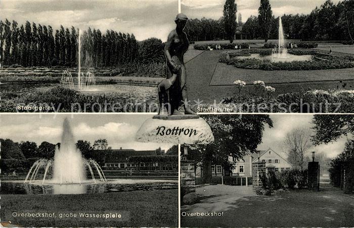 AK / Ansichtskarte Bottrop Stadtgarten Overbeckshof grosse Wasserspiele Kat. Bottrop