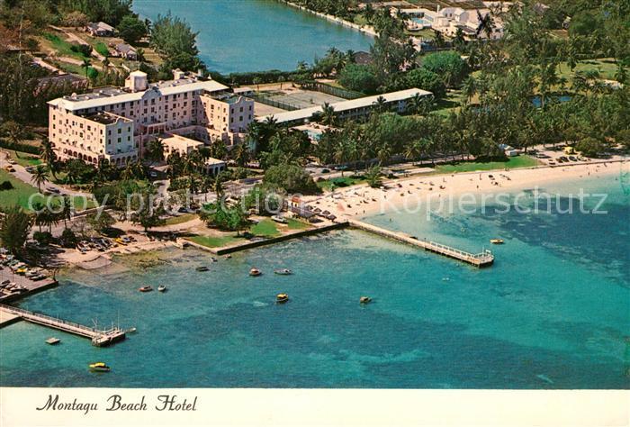 AK / Ansichtskarte Nassau Bahamas Montagu Beach Hotel Fliegeraufnahme
