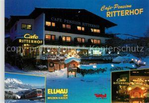 AK / Ansichtskarte Ellmau Tirol Cafe Pension Ritterhof Bergbahn Kat. Ellmau