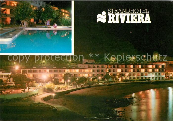 ak ansichtskarte playa del cura gran canaria strandhotel riviera swimmingpool kat spanien nr. Black Bedroom Furniture Sets. Home Design Ideas