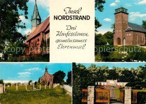 AK / Ansichtskarte Odenbuell Ev luth Kirche Roem kath Kirche Theresien Kirche Altkath Ehrenmal Kat. Nordstrand