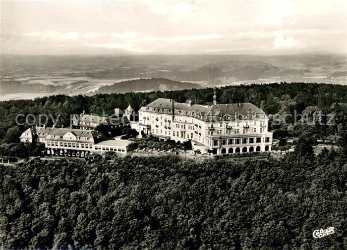 AK / Ansichtskarte Siebengebirge Hotel Petersberg Fliegeraufnahme Kat. Koenigswinter