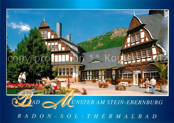 ak ansichtskarte bad muenster stein ebernburg baederhaus fachwerkhaus radon sol thermalbad kat On thermalbad münster