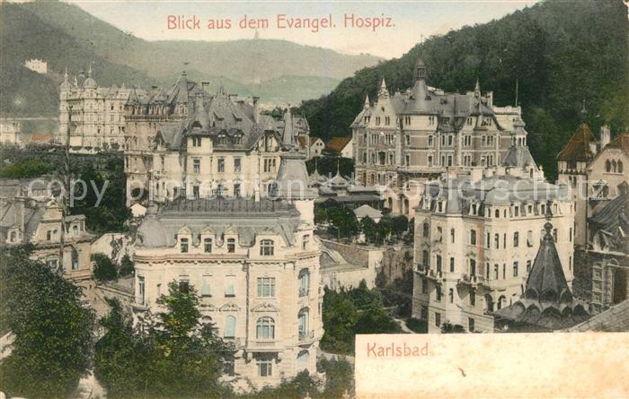 AK / Ansichtskarte Karlsbad Eger Panorama vom Hospiz