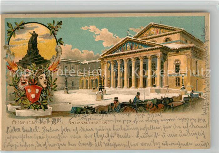 AK / Ansichtskarte Muenchen National Theater Denkmal Kat. Muenchen