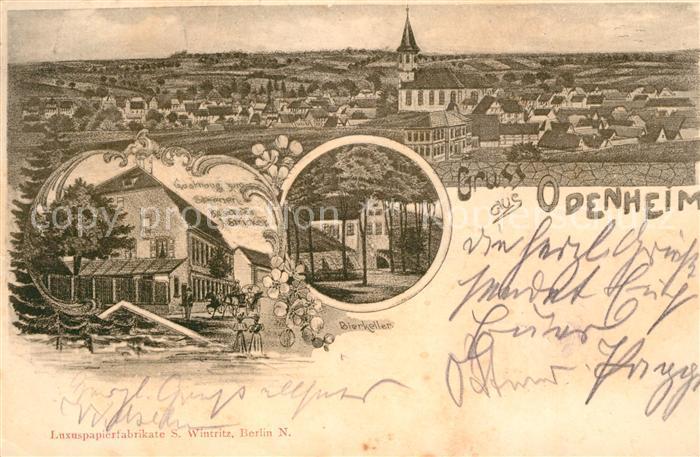 AK / Ansichtskarte Odenheim Gasthaus zum Sternen Bierkeller Litho Kat. oestringen
