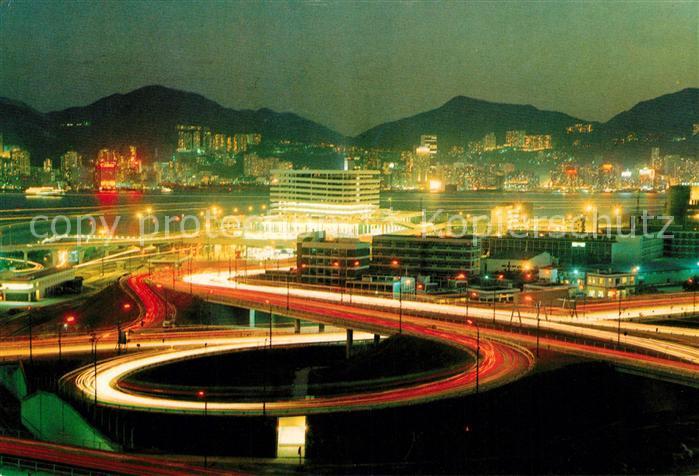 AK / Ansichtskarte Hongkong Cross Harbour Tunnel at night Kat. China