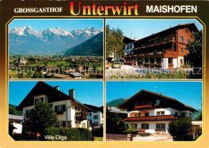 AK / Ansichtskarte Maishofen Panorama Gasthof Unterwirt Villa Olga Haus Brunner Kat. Maishofen Zell am See