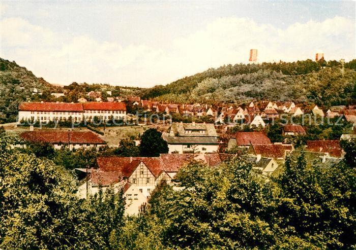 AK / Ansichtskarte Eckartsberga Blick zur Eckartsburg und Oberschule Kat. Eckartsberga