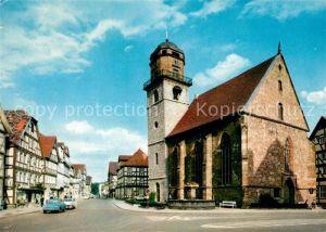 Rotenburg Fulda Jacobikirche mit Breitenstrasse Kat. Rotenburg a.d. Fulda