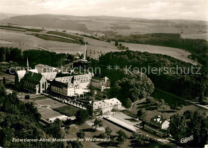 Marienstatt Westerwald Zisterzienser Abtei Marienstatt Fliegeraufnahme Kat. Streithausen