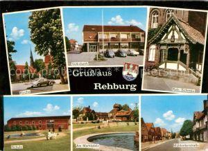 Rehburg Loccum Kirche Volksbank Ratsschenke Schule Marktplatz Muehlentorstrasse Kat. Rehburg Loccum