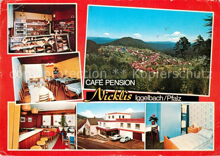 Iggelbach Cafe Pension Nicklis Fremdenzimmer Landschaftspanorama Kat. Elmstein