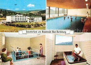 Bad Berleburg Sanatorium am Baumrain Bewegungsbad Wassertreten Moorbad Kat. Bad Berleburg