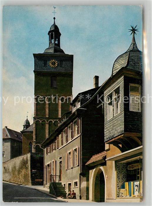 AK / Ansichtskarte Kirchheimbolanden Mozartstrasse Kirche Kat. Kirchheimbolanden