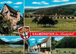 AK / Ansichtskarte Salmuenster Bad Soden Amtshaus Schloss Fischteiche Leipziger Strasse Muehlwiese Kat. Bad Soden am Taunus