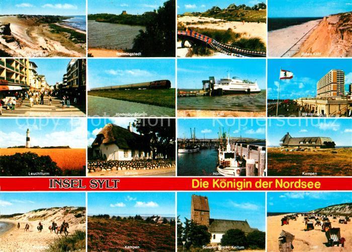 Insel Sylt Koenigin der Nordsee Ortschaften der Insel Kueste Strand Hafen Reiten Faehre Kat. Westerland