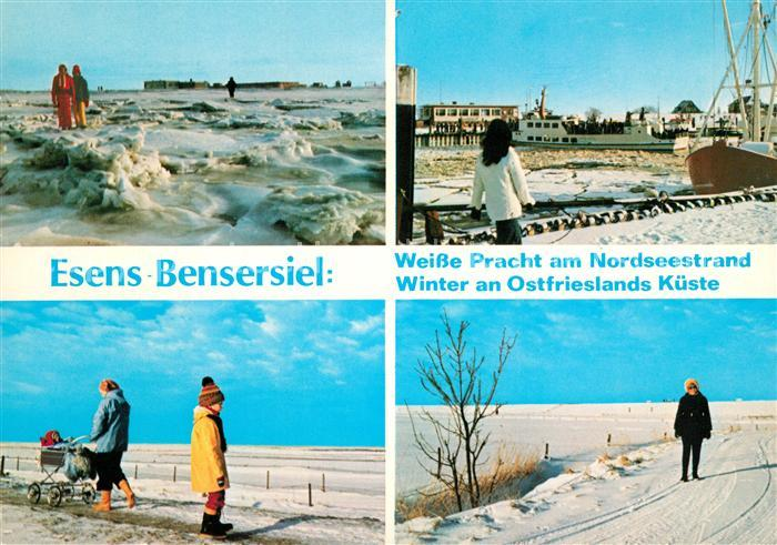 Bensersiel Eisschollen Hafen Winterlandschaft Kat. Esens