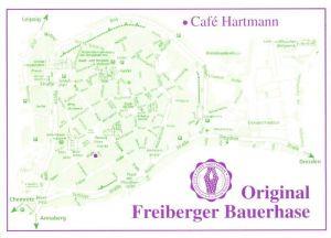 AK / Ansichtskarte Freiberg Sachsen Cafe Hartmann Original Freiberger Bauerhase Kat. Freiberg