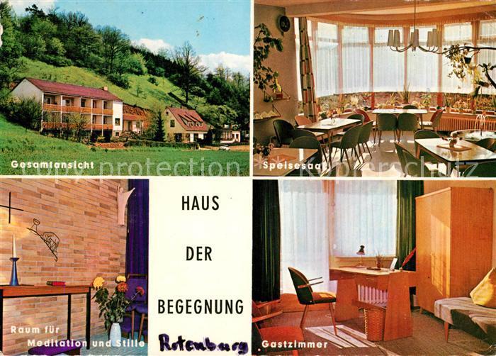 High Quality AK / Ansichtskarte Rotenburg Fulda Haus Der Begegnung Speisesaal  Meditationsraum Gastzimmer Kat. Rotenburg A.d. Fulda