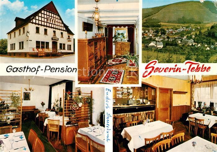 AK / Ansichtskarte Endorf Sauerland Gasthof Pension Severin Tebbe Gastraeume Panorama Kat. Sundern (Sauerland)