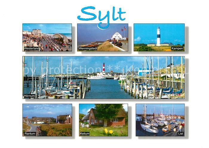 AK / Ansichtskarte Insel Sylt Ortschaften der Insel Leuchtturm Hafen Kat. Westerland