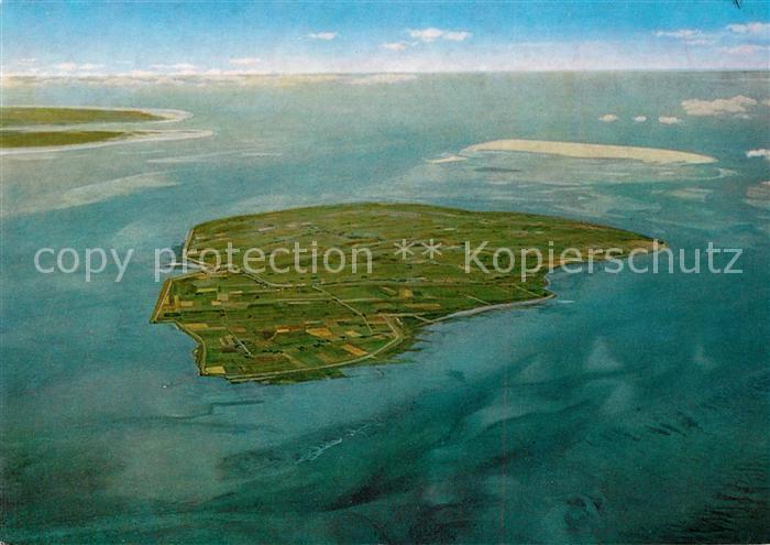 AK / Ansichtskarte Pellworm Nordseeinsel Luftaufnahme aus 3500 m Hoehe Kat. Pellworm