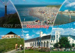 AK / Ansichtskarte Norderney Nordseebad Leuchtturm Nachtaufnahme Strand Kurhaus Gaststaette Kat. Norderney