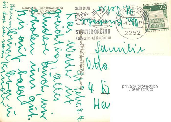 Sankt Peter Ording Karte.Ak Ansichtskarte Peter Ording St Seebruecke Kat Sankt Peter Ording