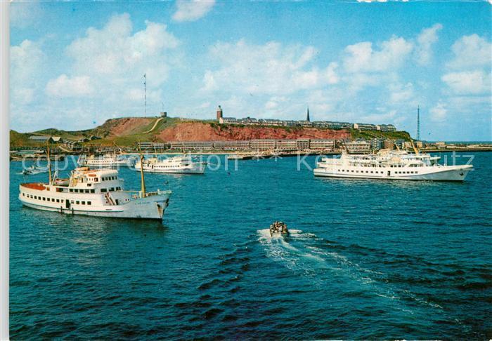 AK / Ansichtskarte Helgoland Panorama Schiffe Kat. Helgoland