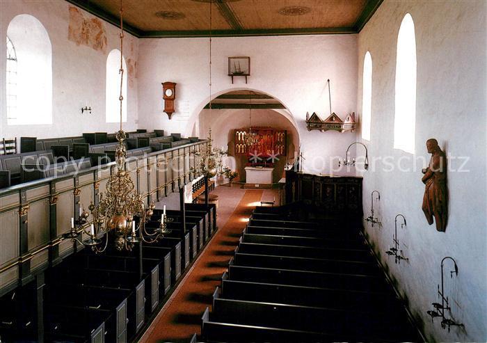 AK / Ansichtskarte Keitum Sylt Kirchenschiff Sanct Severin Kat. Sylt Ost