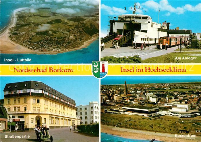 Borkum Karte Strassen.Ak Ansichtskarte Borkum Nordseebad Fliegeraufnahme Strassenpartie Kurzentrum Am Anleger Inselbahn Kat Borkum