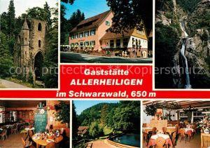 Oppenau Gaststaette Allerheiligen Wasserfall Ruine Kat. Oppenau Schwarzwald
