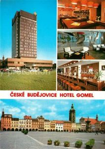 AK / Ansichtskarte Ceske Budejovice Hotel Gomel Restaurant Bar Platz Zizkovo namesti Kat. Budweis Ceske Budejovice