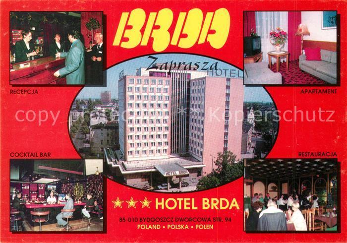 Bydgoszcz Pommern Hotel Brda Rezeption Restaurant Bar Fremdenzimmer Kat. Bromberg Bydgoszcz