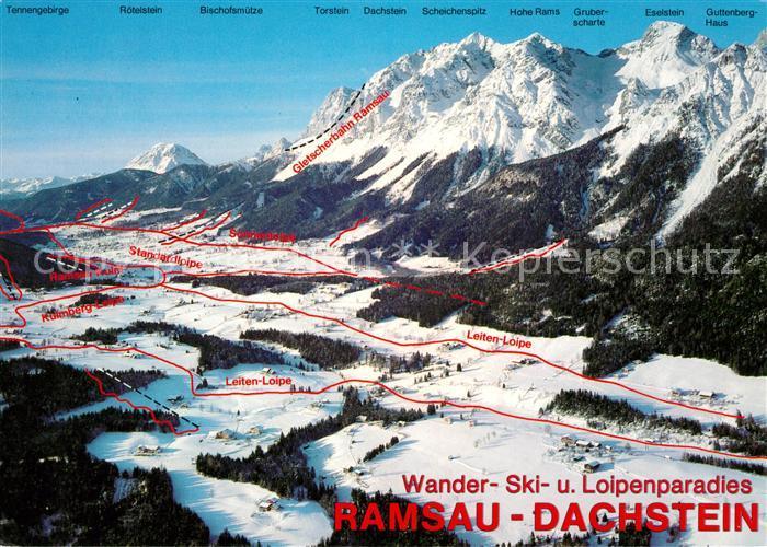 Dachstein Karte.Ramsau Dachstein Steiermark Loipen Und Skipisten Karte Kat Ramsau Am Dachstein