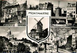 Montmartre Paris Lapin a Gilles Moulin de la Galette Le Moulin Rouge Sacre Coeur Place du Tertre Kat. Paris