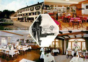 AK / Ansichtskarte La Petite Pierre Hotel Restaurant Lion D Or Kat. Luetzelstein