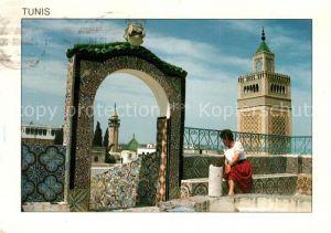 AK / Ansichtskarte Tunis Frau auf dem Dach Kat. Tunis