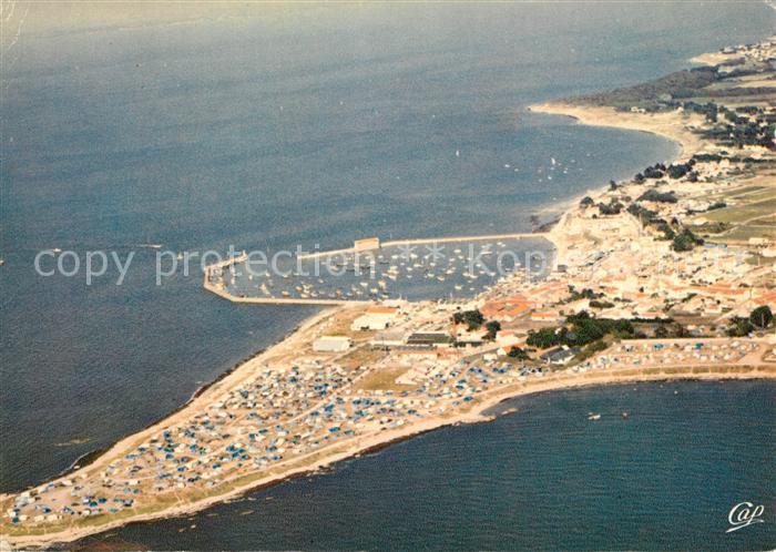 AK / Ansichtskarte Ile de Noirmoutier La Pointe Port de l Herbaudiere et Camping vue aerienne Kat. Noirmoutier en l Ile