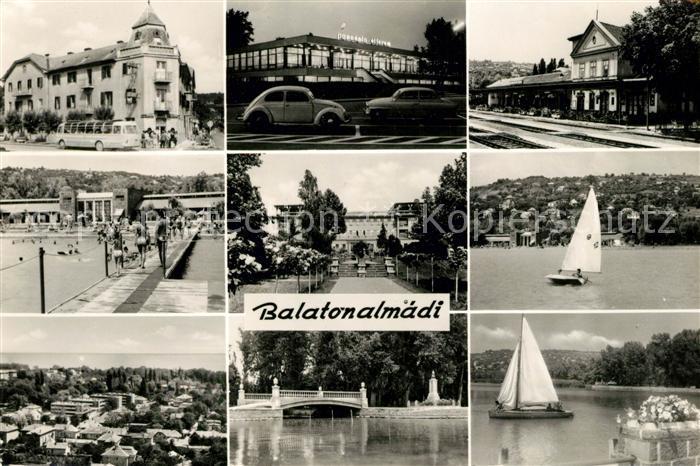 AK / Ansichtskarte Balatonalmadi Teilansichten Schwimmbad Hotel Panorama Kat. Balatonalmadi