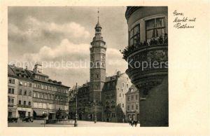 AK / Ansichtskarte Gera Marktplatz Rathaus Kat. Gera