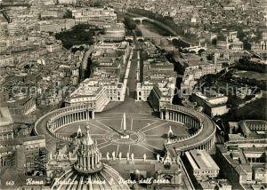 AK / Ansichtskarte Roma Rom Basilica e Piazza San Pietro dall aereo Kat.