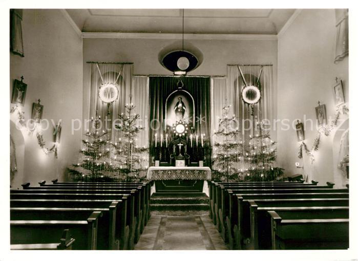 AK / Ansichtskarte Oberroning Kapelle im Institut der Salesianerinnen Kat. Rottenburg a.d.Laaber