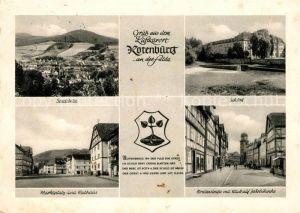 AK / Ansichtskarte Rotenburg Fulda Stadtbild Schloss Marktplatz Rathaus Breitenstrasse mit Jakobikirche Kat. Rotenburg a.d. Fulda