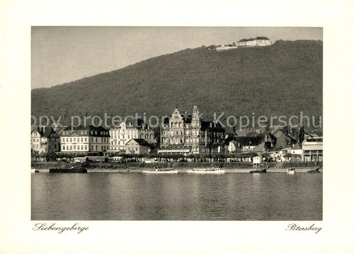 AK / Ansichtskarte Siebengebirge Petersberg Rheinpartie Kat. Koenigswinter
